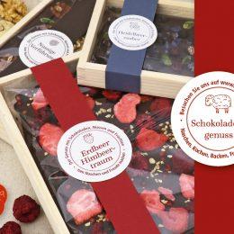 Messeeinladung 2019 Bestreute Schokolade