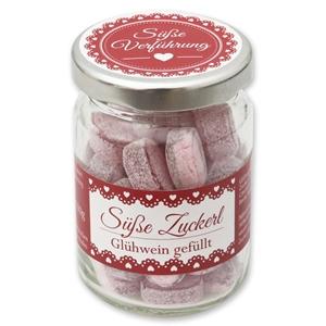 Süße Zuckerl Glühwein gefüllt