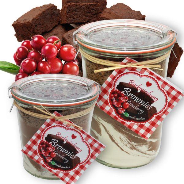Brownie Backmischung mit Cranberry