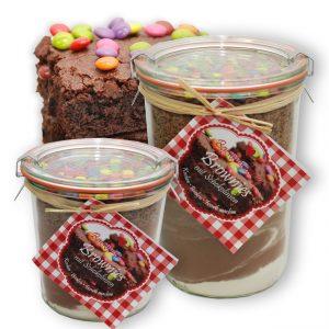 Brownie Backmischung mit Schokolinsen