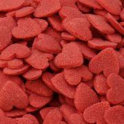 Zuckerdekor Herzchen rot
