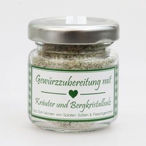 Gewürzzubereitung mit Kräuter und Bergkristallsalz