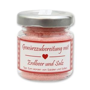 Gewürzzubereitung mit Erdbeer und Salz