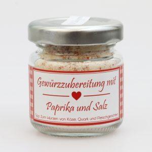 Gewürzzubereitung mit Paprika und Salz