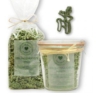 Lieblingsnudeln Hirsch grün