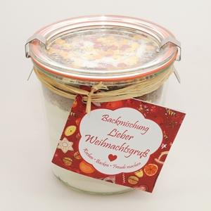 Backmischung Kuchen Lieber Weihnachtsgruß