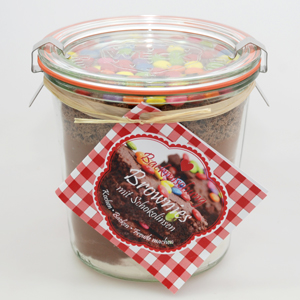 Backmischung Brownies mit Schokolinsen