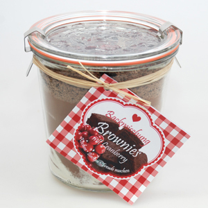 Backmischung Brownies mit Cranberry