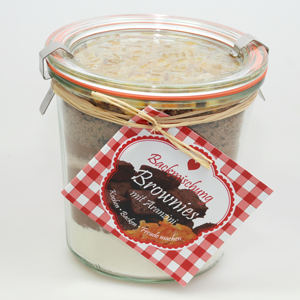 Backmischung Brownies mit Aranzini