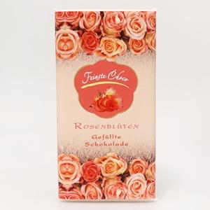 Gefüllte Schokolade Rosenblüten