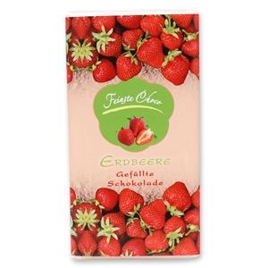 Gefüllte Schokolade Erdbeere