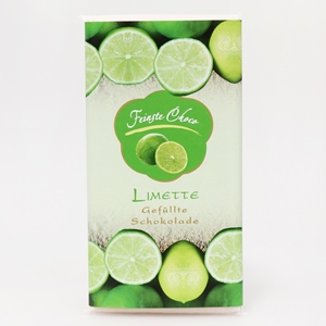 Gefüllte Schokolade Limette