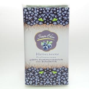 Gefüllte Schokolade Heidelbeere