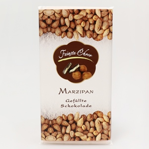 Gefüllte Schokolade Marzipan