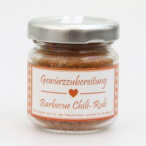 Gewürzzubereitung Barbecue Chili-Rub