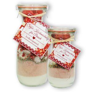 Süße Kochmischung für Erdbeerpunsch im Glas