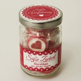 Süße Zuckerl Herzblatt
