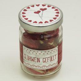 Zuckerl Sweet Heart Glühwein gefüllt