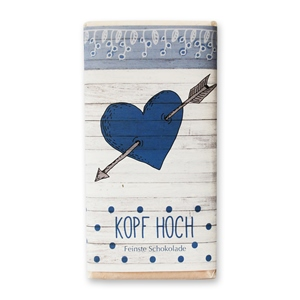 """Kopf Hoch"" Sweetheart Vollmilchschokolade"