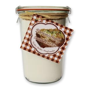 Brot Backmischung für Zwiebelbrot mit Käse