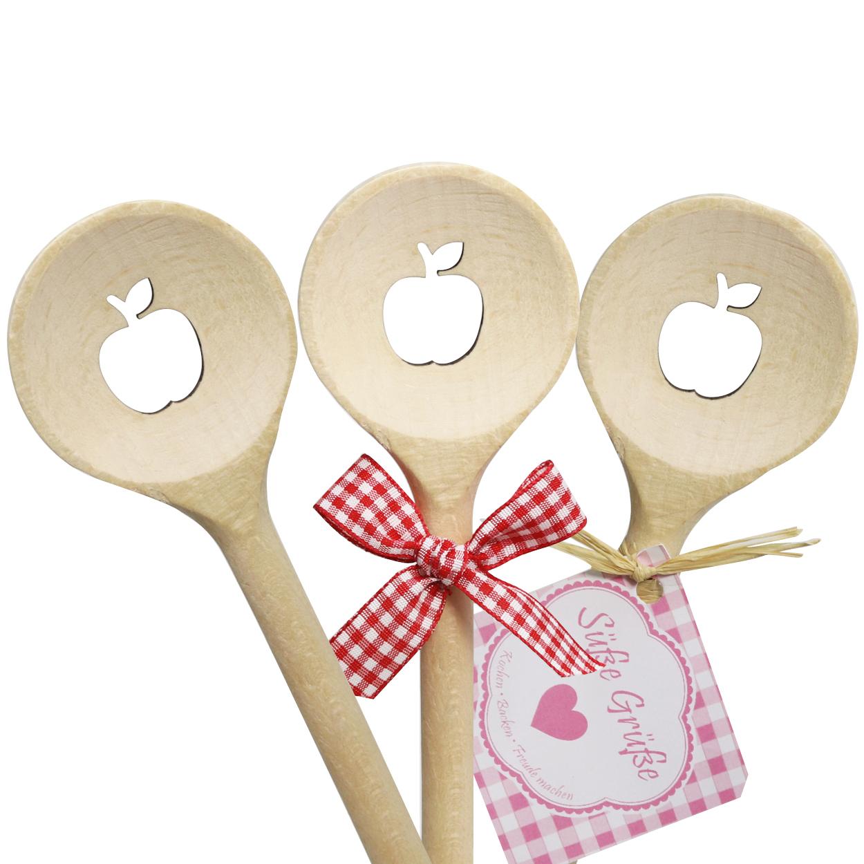 Kochlöffel Apfel rund