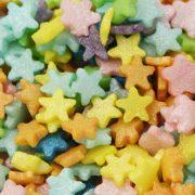 Zuckerdekor Mini Sternenglanz bunt