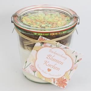 Backmischung Blumen Kuchen