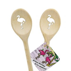 Flamingo Kochlöffel oval