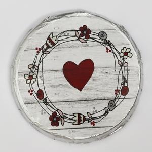 Motiv 1 - rotes Herz mit Blumenkranz