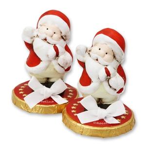 Chocotaler dekoriert mit Weihnachtsmann