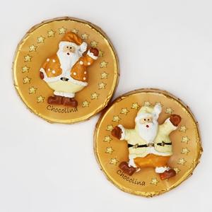Chocotaler dekoriert mit Weihnachtsmann sortiert
