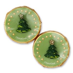 Chocotaler dekoriert mit Weihnachtsbaum
