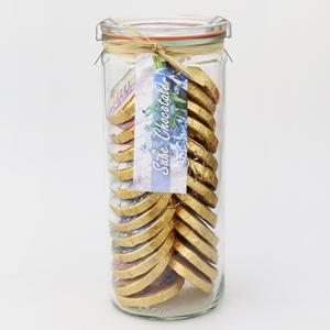 Süße Chocotaler - Blaue Sortierung