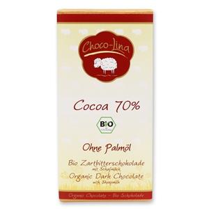 Biologische Zartbitterschokolade mit Schafmilch AT-BIO-401