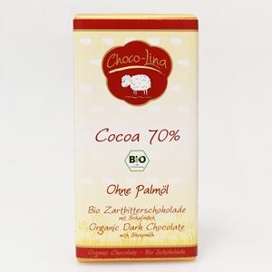Biologische Zartbitterschokolade mit Schafmilch