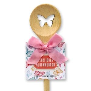 Schmetterling Kochlöffel rund - Herzlichen Glückwunsch
