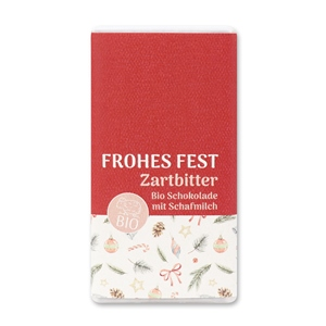 Frohes Fest - Biologische Zartbitterschokolade