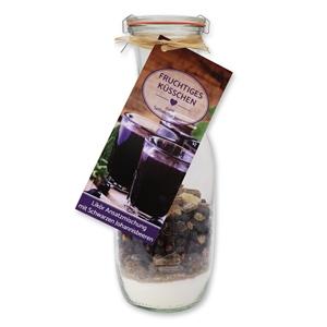 Likör Ansatzmischung mit Schwarzen Johannisbeeren - Fruchtiges Küsschen