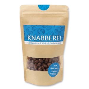 Knabberei - Cranberries mit Vollmilchschokolade