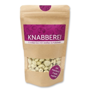 Knabberei - Cranberries mit weißer Schokolade