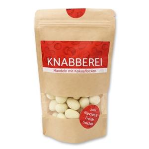 Knabberei - Mandeln mit Kokosflocken