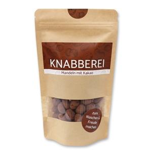 Knabberei - Mandeln mit Kakao