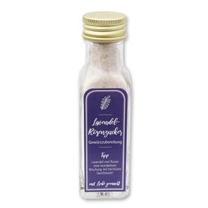 Gewürzzubereitung Lavendel-Rosenzucker