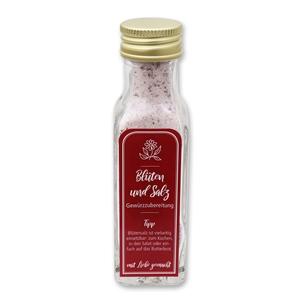 Gewürzzubereitung Blüten und Salz
