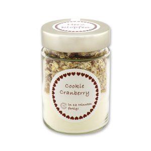 Herzklopfen - Cookie Backmischung Cranberry