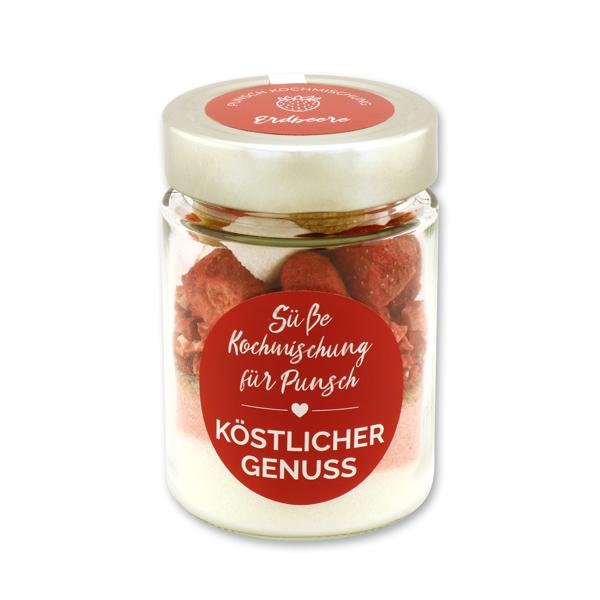 Köstlicher Genuss - Süße Kochmischung für Erdbeerpunsch