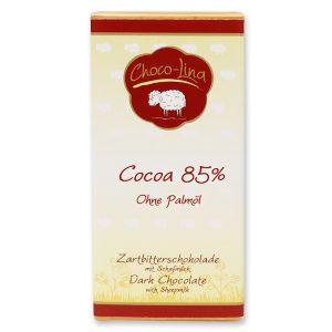 85% Zartbitterschokolade mit Schafmilch - palmölfrei