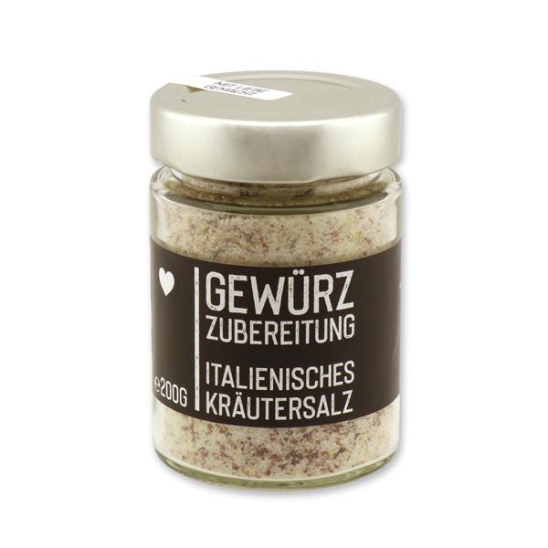 Black Edition - Italienisches Kräutersalz im Glas