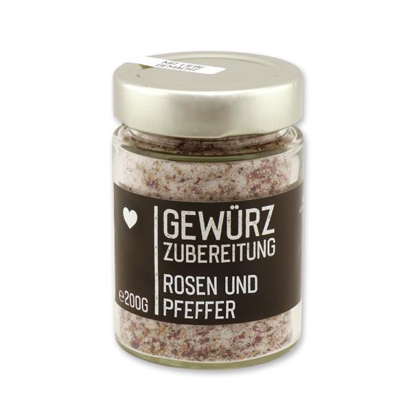 Black Edition - Rosen & Pfeffer im Glas